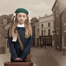 Evacuee Girl With Suitcase - Amanda Elwell