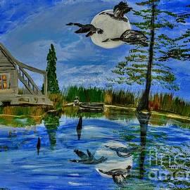 Evening At Acadiana Pond by Seaux-N-Seau Soileau