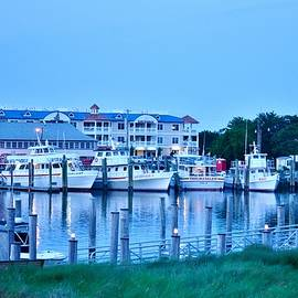 Evening At The Dockside - Lewes Delaware by Kim Bemis
