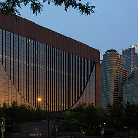 Evening In Downtown Minneapolis by Mike Evangelist