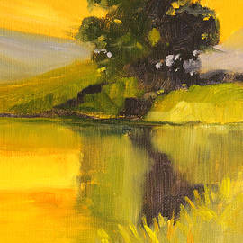 Evening Pond Landscape by Nancy Merkle