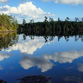 Evening Reflections On Spoon Lake by Larry Ricker