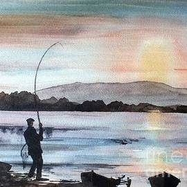 F 798 Evening Rise, Lough Mask, Mayo by Val Byrne