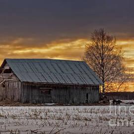 Jukka Heinovirta - Evening Sky Over The Old Barn House