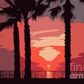 Kirt Tisdale - Evening Sunset Along The Walk