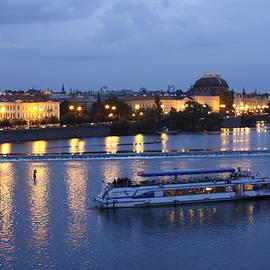 Sally Weigand - Evening Vltava River Scene
