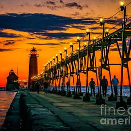 Nick Zelinsky - Evening walk on the Grand Haven Pier