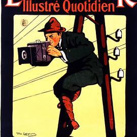 Excelsior Journal - Illustre Quotidien - Vintage French Magazine Advertising Poster - Newspaper - Studio Grafiikka