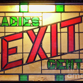 Tatiana Travelways - EXIT - LADIES/GENTS art deco sign