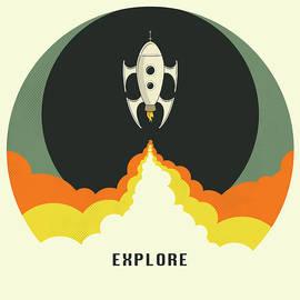 EXPLORE SPACE - Jazzberry Blue