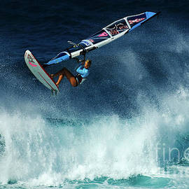 Extreme Wind Surfing Hawaii 2 by Bob Christopher