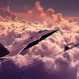 F22 Raptor Aviation Art by John Wills