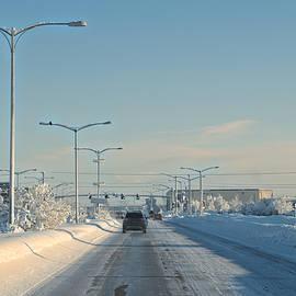 Cathy Mahnke - Fairbanks in January - Airport Way
