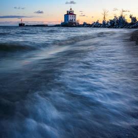 Fairport Harbor Winter Dawn by Matt Hammerstein