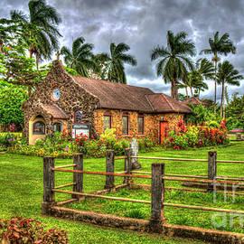 Kauai HI Faithful One Christ Memorial Episcopal Church Kilauea Hawaiii Architectural Landscape Art by Reid Callaway