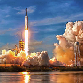 SpaceX - Falcon Heavy Rocket launch SpaceX