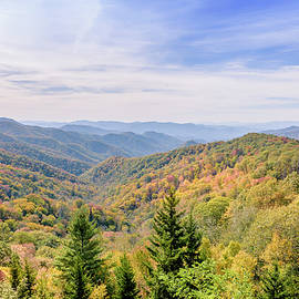 Rod Gimenez - Fall colors on The Great Smoky Mountains National Park with some negative space