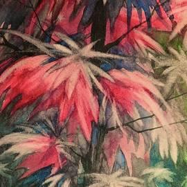 David K Myers - Fall Garden, Watercolor