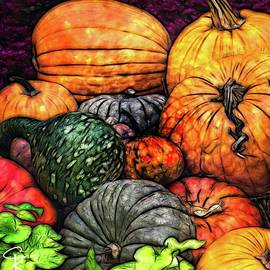 Fall Gourds by Catherine King