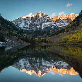 Fall Sunrise At Maroon Bells by James Udall