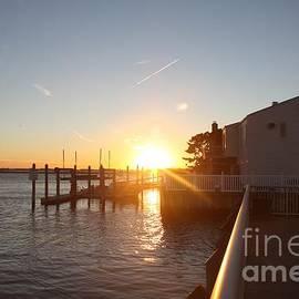 John Telfer - Fall Sunset Over Freeport Canal