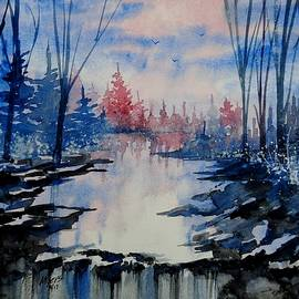 David K Myers - Falls Watercolor