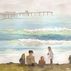 Family Enjoying The Beach by Brian Meyer