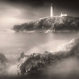 Fanad Lighthouse in the Mist by Susan Maxwell Schmidt