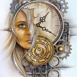 Gert J Rheeders - Fantasy Art - Time Encaptulata For A Woman