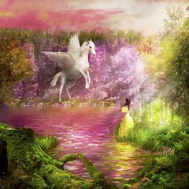 Fantasy - Pegasus - The enchanted garden by Mike Savad