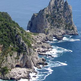 Faraglioni Rocks by Ginger Stein