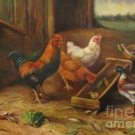 Farm Birds by Farideh Haghshenas