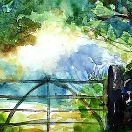 Trudi Doyle - Farm gateway in summer