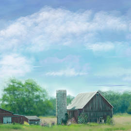 Mary Timman - Farmstead Under Blue Skies