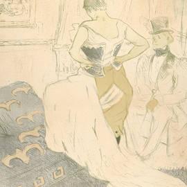 Fastening A Corset by Henri de Toulouse-Lautrec
