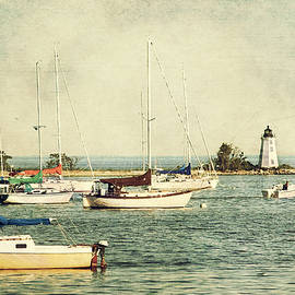 Fayerweather Island Lighthouse - Bridgeport Lighthouse - Black Rock Harbor by Joann Vitali