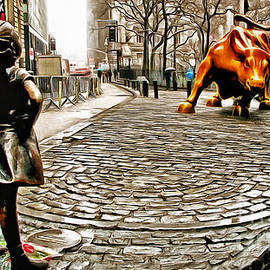 Nishanth Gopinathan - Fearless Girl and Wall Street Bull Statues 2