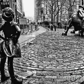 Nishanth Gopinathan - Fearless Girl and Wall Street Bull Statues 3 BW