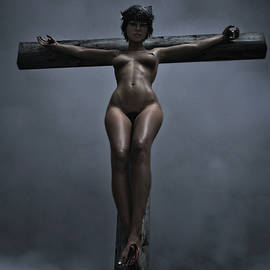 Ramon Martinez - Female crucifix in the night V I