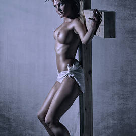 Ramon Martinez - Female Crucifix Poster