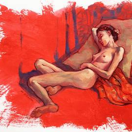 Female Nude sleeping by Roz McQuillan