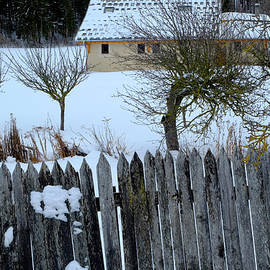 Fence And House by August Timmermans