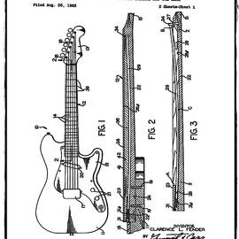 Fender Stratocaster Patent 1964 White by Bill Cannon