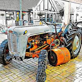 Dorothy Berry-Lound - Ferguson Tractor and Grass Roller