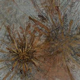 Kristin Doner - Fern Series Specimens on Light Blue Gray