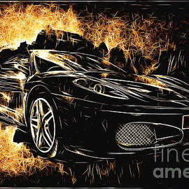 Ferrari in Flames by Jack Torcello