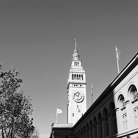 Matt Harang - Ferry Building - San Francisco Embarcadero - Black and White