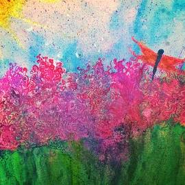 Christine Paris - Field of flowers w firefly