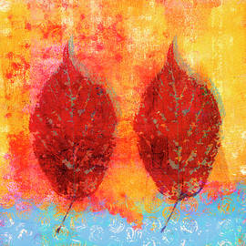 Carol Leigh - Fiery Fall Color Cherry Leaves