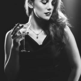 Film Noir Woman Drinking A Martini - Amanda Elwell